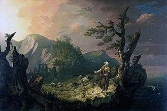 Culture of Wales - The Bard, 1774, by Thomas Jones (1742–1803)