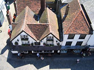 The Boot, St Albans - The Boot from above