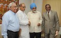 The Chief Minister of Goa, Shri Digambar Kamat meeting the Deputy Chairman, Planning Commission, Shri Montek Singh Ahluwalia to finalize the Annual Plan outlay for 2011-12 of the State, in New Delhi on April 19, 2011.jpg