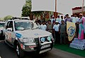 The Chief Minister of Rajasthan, Smt. Vasundhara Raje, Flagging of the SAARC Car Rally in Jaipur on April 04, 2007.jpg