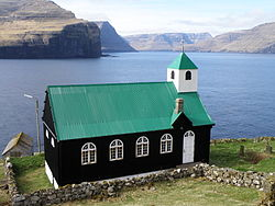 The Church on Kirkja, Fugloy, Faroe Islands.JPG