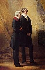 Arthur Wellesley, 1st Duke of Wellington, with Sir Robert Peel