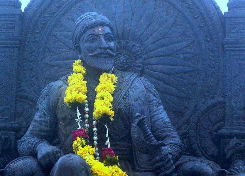 File:The Great Shivaji -Warrior King of India, at Raigadh Fort, Maharastra,India.jpg