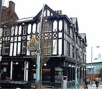 Howard Street (Sheffield) - The Howard Hotel at the bottom of Howard Street.