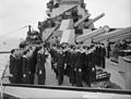 The King Pays 4-day Visit To the Home Fleet. 18 To 21 February 1943, Scapa Flow, Wearing the Uniform of An Admiral of the Fleet, the King Paid a Four Day Visit To the Home Fleet. A15210.jpg