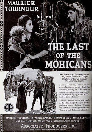 The Last of the Mohicans (1920 American film) - Advertisement for the film