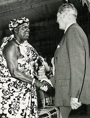 Harold Macmillan - Macmillan meeting Ghanaian leader