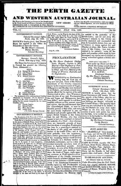 File:The Perth Gazette and Western Australian Journal 1(30).djvu