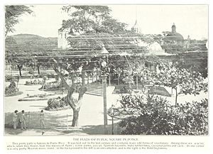 Plaza Degetau - Plaza Las Delicias circa 1890s, before it was renamed to Plaza Degetau