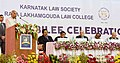 The President, Shri Ram Nath Kovind addressing at the Platinum Jubilee Celebration of Karnataka Law Society & Raja Lakhamgouda Law College, at Belagavi, in Karnataka.JPG