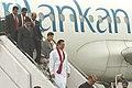 The President of the Democratic Socialist Republic of Sri Lanka, Mr. Mahinda Rajapaksa arrives in New Delhi on December 27, 2005.jpg