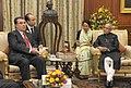 The President of the Republic of Tajikistan, Mr. Emomali Rahmon meeting the President, Shri Pranab Mukherjee, at Rashtrapati Bhavan, in New Delhi on September 03, 2012.jpg