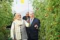 The Prime Minister, Shri Narendra Modi and the Prime Minister of Israel, Mr. Benjamin Netanyahu, at the Centre of Excellence for Vegetables, at Vadrad, in Gujarat on January 17, 2018 (7).jpg