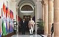 The Prime Minister, Shri Narendra Modi with the Prime Minister of the Kingdom of Cambodia, Mr. Samdech Akka Moha Sena Padei Techo Hun Sen, at Hyderabad House, in New Delhi on January 27, 2018.jpg