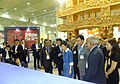 The South Korean President, Ms. Park Geun Hye visiting Indian Pavilion at Seoul International Book Fair, 2013, in Seoul. The Minister of State for Human Resource Development.jpg