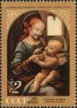 The Soviet Union 1971 CPA 4018 stamp (Benois Madonna (Leonardo da Vinci)).png