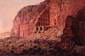 The Urn Tomb, Silk Tomb. and Corinthian Tomb, Petra by Frederic Church.jpg