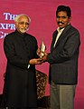 The Vice President, Shri Mohd. Hamid Ansari presented the Ramnath Goenka Excellence in Journalism Awards 2010-11, in New Delhi on January 16, 2012 (1) (cropped).jpg