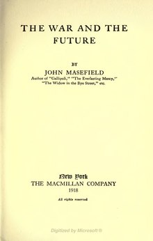 The War and the Future (Masefield, 1918).djvu