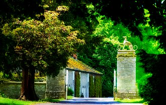 Langton, North Yorkshire - The gates of Langton Hall