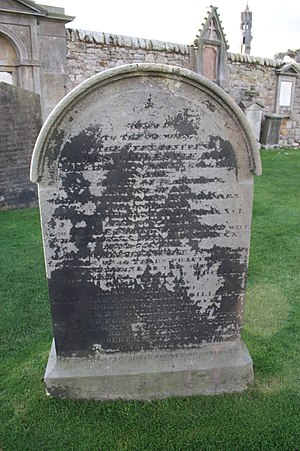 James Gillespie (minister) - The grave of Very Rev James Gillespie, St Andrews Cathedral graveyard