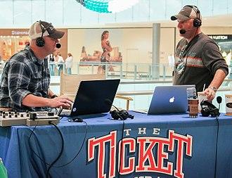 KTCK (AM) - Reporting from a 2014 Dallas Stars fan-event at the Galleria Dallas