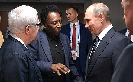Pele with Vladimir Putin at the opening of the Confederations Cup 2017 in Saint Petersburg, Russia The opening of the Confederations Cup 2017 in St. Petersburg 14.jpg