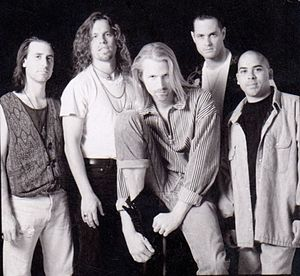 His Boy Elroy - The original His Boy Elroy band in 1993. Left to right: Mario Rossi, Charlie Longhi,  Johnny Fly, Scott Doyle,Forrest Breese