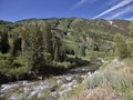 The rushing Crystal River in Marble, a tiny community high in the mountains of Gunnison County, Colorado LCCN2015633479.tif
