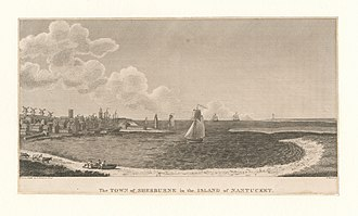 Nantucket - The town on Nantucket Island, when it was still called Sherburne, in 1775