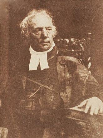 St John's Renfield Church - Image: Thomas Chalmers by David Octavius Hill, c 1843 47