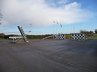 Thruxton Aerodrome - Entrance to airfield and racing circuit, 2009