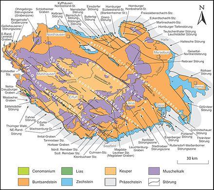 Geologische Karte Thüringen.Apoldaer Störungszone Wikipedia