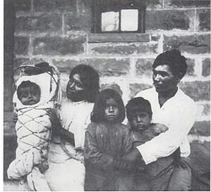 Edward Sapir - Tony Tillohash with family. Tillohash was Sapir's collaborator on the famous description of the Southern Paiute language