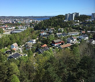 Grim (Kristiansand) - View of the Tinnheia area in Grim