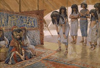 Sarah - Sarai Is Taken to Pharaoh's Palace by James Tissot.