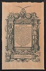 Titelplaat [2de] voor de Blijde Intrede van aartshertog Ernst van Oostenrijk te Antwerpen in 1594
