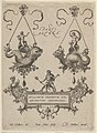Title Plate with Two Pendant Designs Above and Neptune Standing on a Cartouche Below MET DP837438.jpg