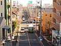 Tobus Nishi-Komatsugawa-cho Busstop from Komatsugawa Bridge 2010.jpg
