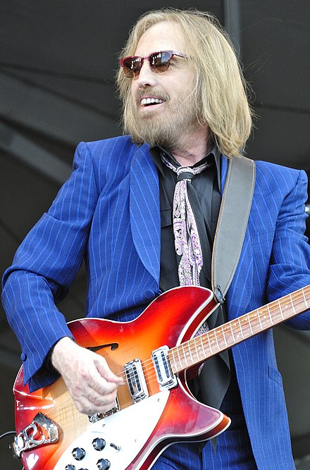 Tom Petty and the Heartbreakers (Tom Petty pictured) played during the halftime show. Tom Petty (8191710373).jpg