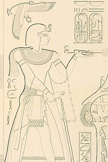 Ramesses VII from tomb KV1, drawn by Karl Richard Lepsius
