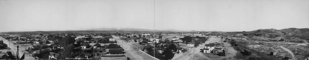 Panorama of Tombstone in 1909 from Fremont and Second Streets.