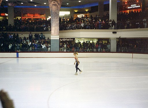 Tonya Harding Olympic practice at Clackamas Town Center 1994 3