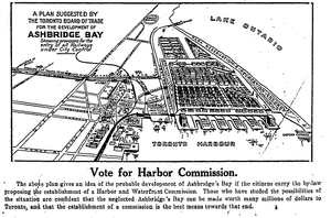 Toronto Harbour Commission - Toronto Board of Trade supported the creation of the Commission.