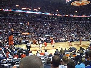 2008–09 Toronto Raptors season - The Raptors in a home game against the Houston Rockets