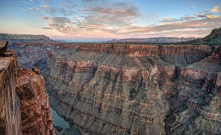 Remote viewpoint in the western part of Grand Canyon National Park