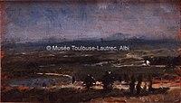 Toulouse-Lautrec - CELEYRAN VUE DE LA PLAINE, 1880, MTL.33.jpg