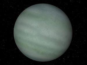 Celestia - Celestia's rendition of TrES-4b