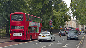 Traffic on Romney Road in Greenwich, London.jpg