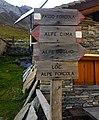 Trail signage outside Rifugio Forcola 1838 m.a.s.l. Valchiavenna - (Sondrio) Lombardy - Italy. 13-10-2019.jpg